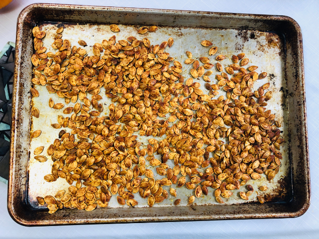 Plant-Based Roasted Pumpkin Seeds