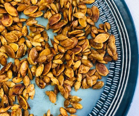 Vanilla Cardamom Roasted Squash Seeds